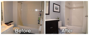 Bathroom Before and After Staging